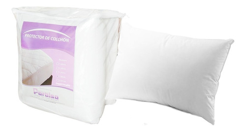 colchón everfoam energy plus 140*190+basecama+almohadas+prot