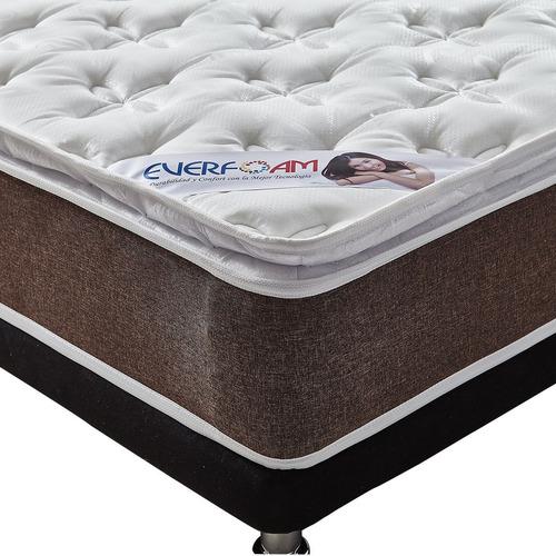 colchón everfoam premium gold 100*190 standart + base cama