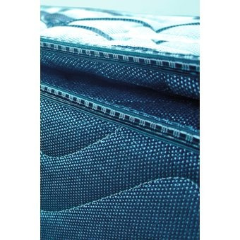 colchón fantasia blue balanced 160 x 190 cm-blanco con azul