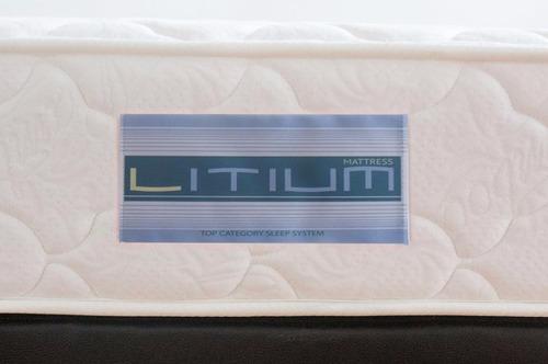 colchón fantasia litium 140x190x20 cm resortado