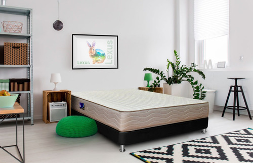 colchon fantasia marfil lexus 140x190 cm resortado