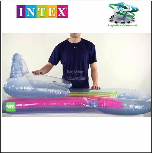 colchon flotador inflable intex respaldar posa vaso 58802