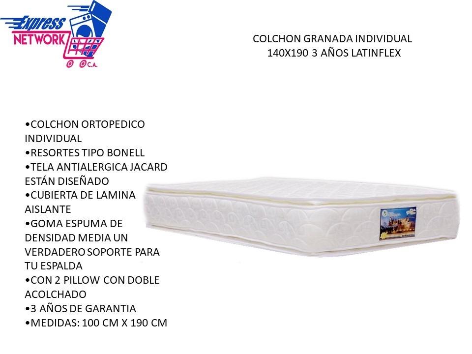 1b4a55e472f Colchón Individual Ortopédico Granada Doble Pillow Latinflex - Bs ...