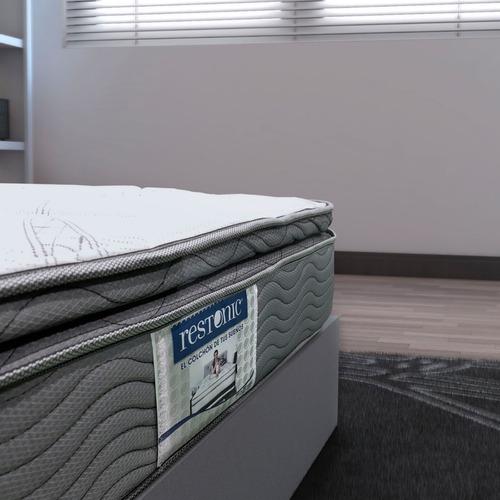colchón individual restonic go ortopedico + envio gratis