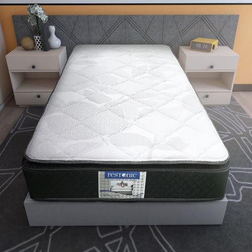 colchón individual restonic ortopedico + envio gratis hs