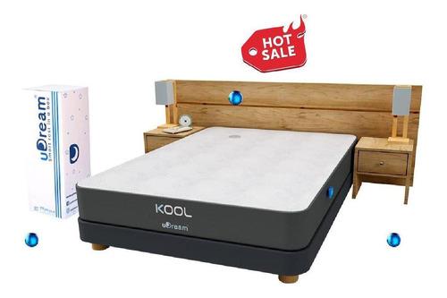 colchón individual udream memory foam gel en caja kool