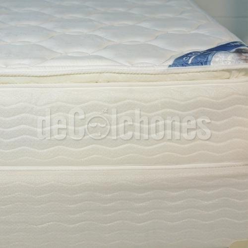 colchón inducol april 2 plazas pillow + somier 2p inducol