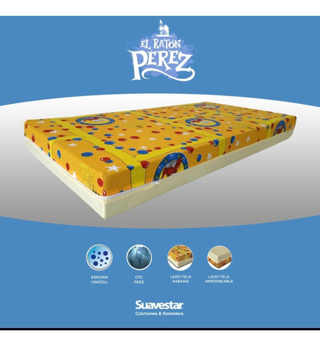 colchón infantil suavestar 120x60 impermeable envio gratis!