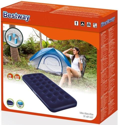 colchon inflable 1 plaza bestway - oferta rubenjuve camping