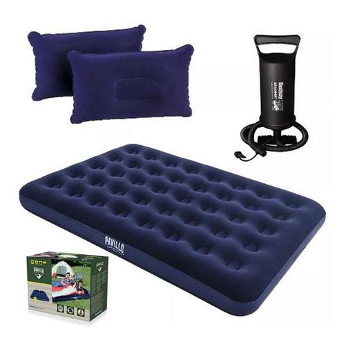 colchón inflable 2 plaza+ inflador+ almohada 29997 /fernapet