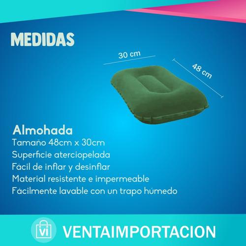 colchon inflable 2 plazas + 2 de 1 plaza +2 almohada + 1 inf