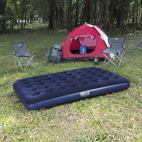colchón inflable 2 plazas bestway reforzado - garageimpo