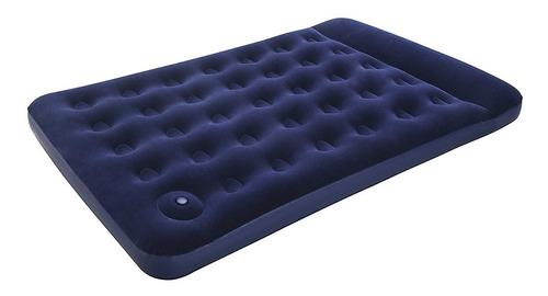 colchon inflable 2 plazas + inflador de pie incluido bestway