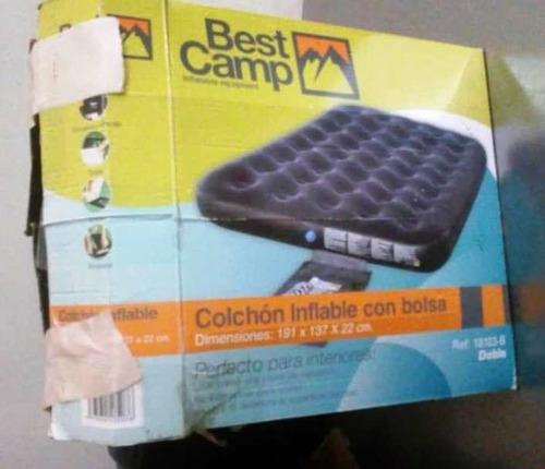colchón inflable best camp con bomba eléctrica