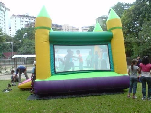 colchón inflable, cama elástica, agencia de festejos