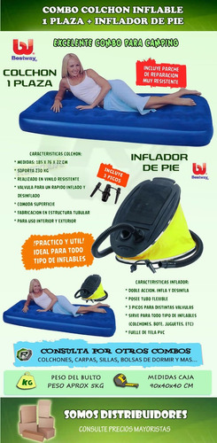 colchon inflable camping