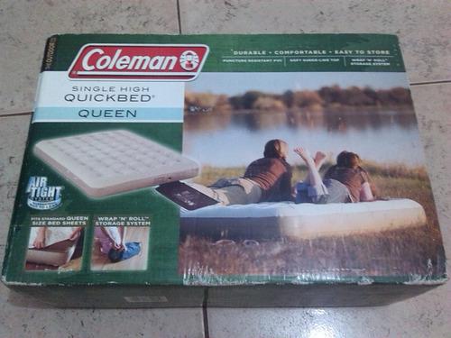 colchon inflable coleman queen