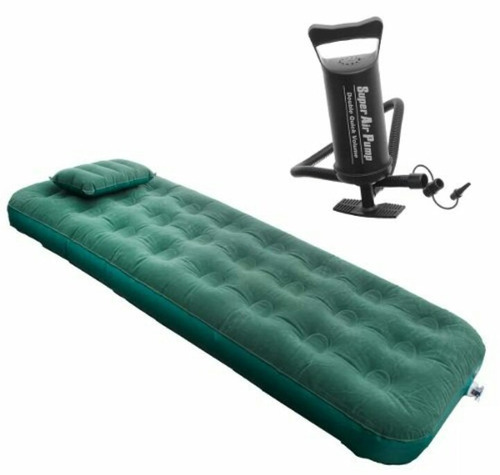 colchón inflable de 1 plaza + 1 almohadón + inflador nuevos!