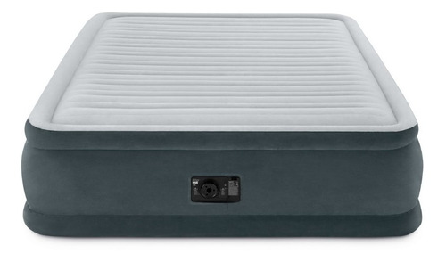 colchón inflable eléctrico intex 2 plazas gris  //bamo