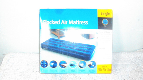 colchón inflable individual  185 x 74 x 13 cm