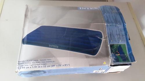 colchon inflable individual marca intex como nuevo con bomba