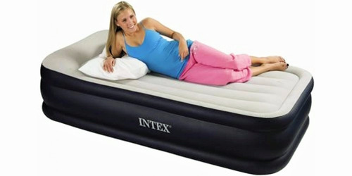 colchon inflable intex 99x191x42cm twin deluxe pillow 64131*