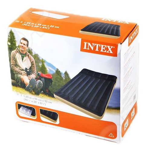 colchon inflable intex camping y alberca 99x189x22cm 68796