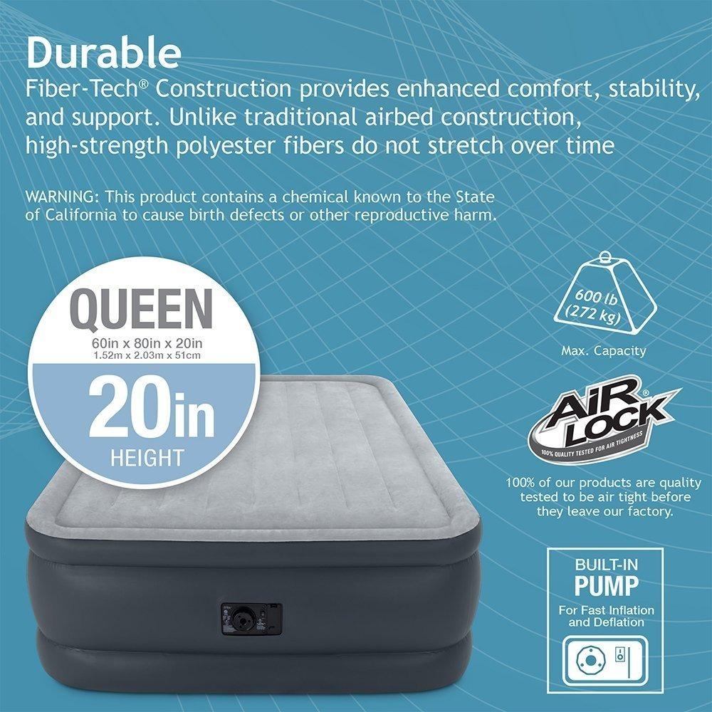 Colchon Inflable Intex Dura-beam Essential Queen Con Bomba ...