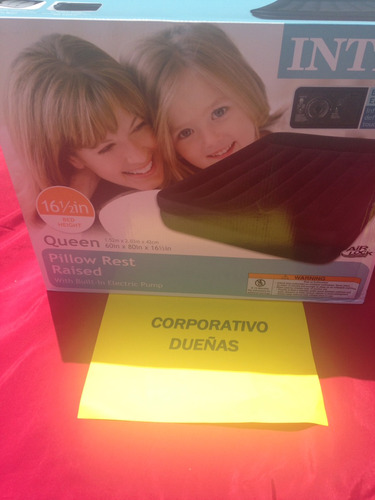 colchón inflable intex pillow rest raised airbed with built