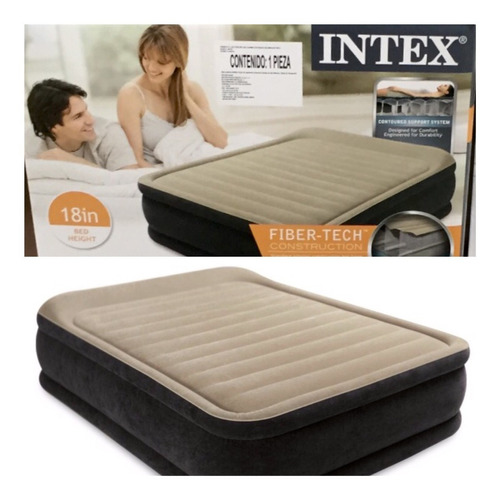 colchón inflable intex queen size calidad premium c/bomba