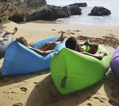colchon inflable magico lay bag ideal camping playa piscina