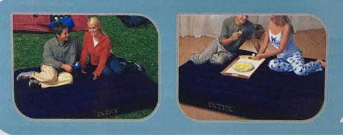 colchón inflable matrimonial intex camping