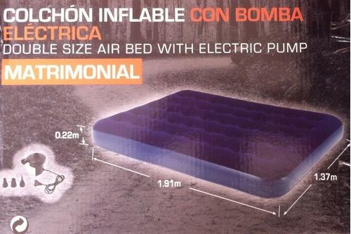 colchón inflable ozark matrimonial con bomba