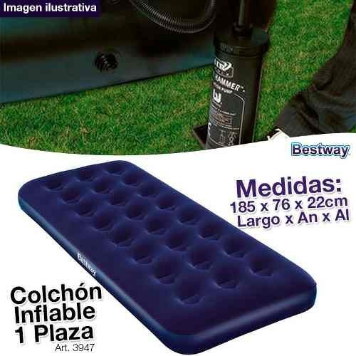 colchon inflable plaza camping