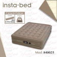 colchón inflable queen con bomba incluida insta bed 840025
