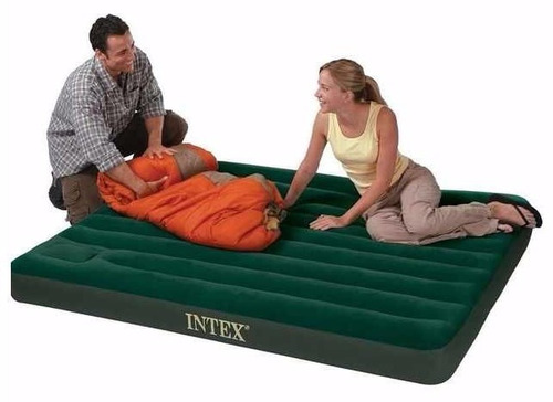 colchon inflable queen intex incluye bomba de pie