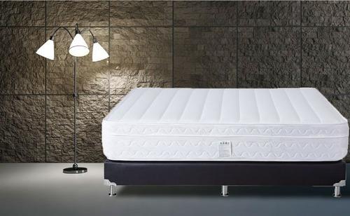 colchón júbilo especial+base+lenc doble 140x190 (semi firme)