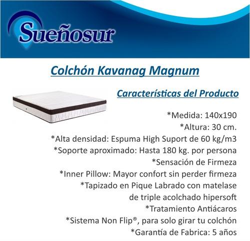 colchon kavanag magnum gold 2 plazas 140x190 - 60 kg/m3