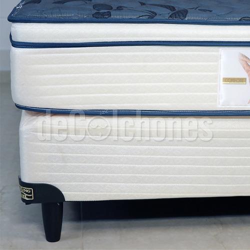 colchon king koil aspen 140 x 190 + 2 almohadas