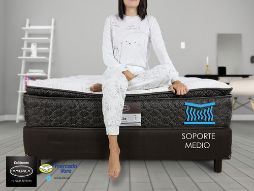 colchón king size américa clio ortopédico + box envio gratis