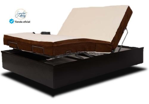 colchon king size con memory foam y base para cama ajustable