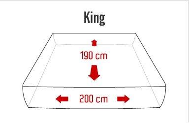 colchón king size cool gel  con box bio mattress