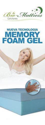 colchon  king size cool-gel memory foam gel  bio mattress
