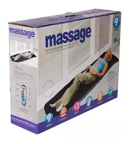 colchon masajeador cuerpo calor 9 motores relajante terapia