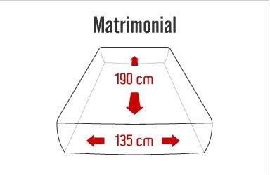 colchon matrimonial cool-gel memory foam gel  bio mattress