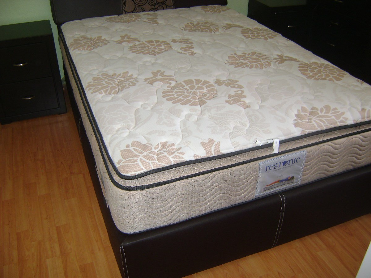Colch n matrimonial restonic individual qs king size for Colchones para cama matrimonial