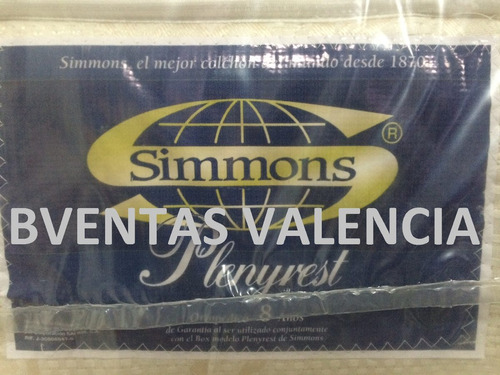 colchon matrimonial simmons ortopedico  pillow 140x190