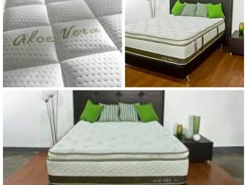 colchon  matrimonial super pillow memory foam 2 almohadas