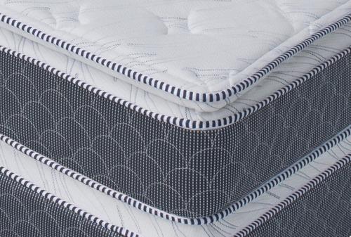 colchon maximum king size - gris y blanco këssa muebles