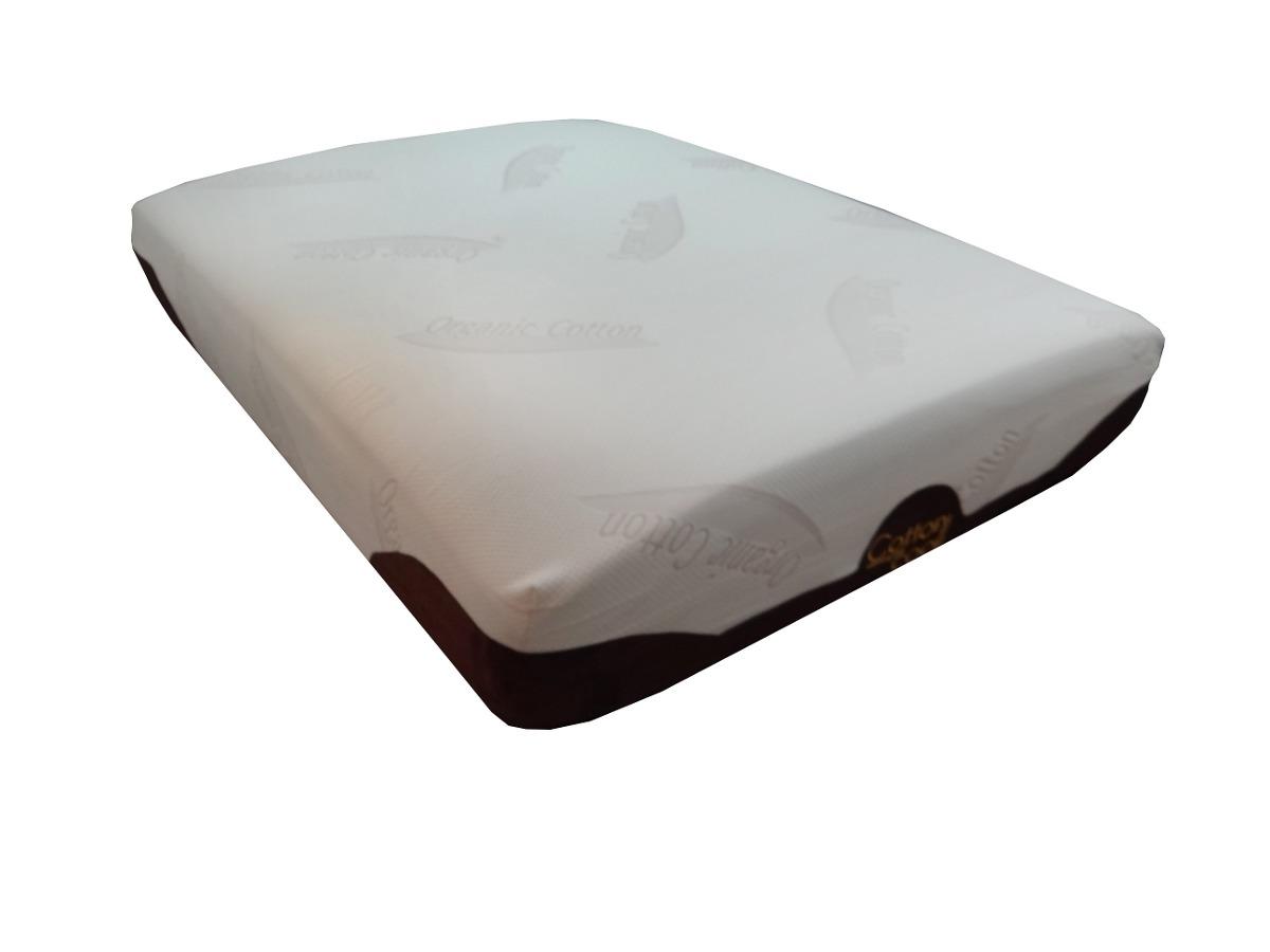 Colch n memory foam cotton cool con base king size for Que medidas tiene un colchon king size